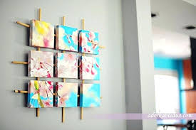 Wall Art Diy Canvas Ideas Sectioned With Painters Tape