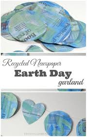 Newspaper Craft Ideas For Kids Recycled Earth Day Garland