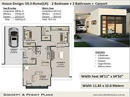 Modern Houseplans Modern Easy Build 2 Bedroom 2 Bathroom House Plan