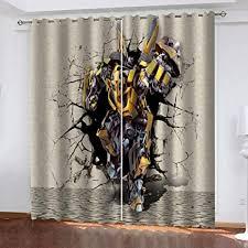 zfszsd vorhänge blickdicht löcher roboter gardinen