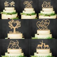 Mr And Mrs Rustic Wedding Cake Topper Laser Cut Wood Letters Decorations Favors Supplies Engagement Gifts For Sale