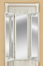 Cabidor Classic Storage Cabinet With Mirror by Behind Door Mirror U0026 Mirrotek Dm1448wt Over The Door Mirror White
