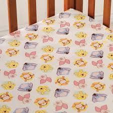 Winnie The Pooh Nursery Bedding by Peeking Pooh Fitted Sheet Disney Baby