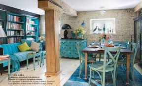 Teal Living Room Walls by Exposed Bricks Interiors By Color 8 Interior Decorating Ideas