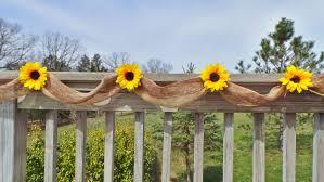 Sunflower Wedding Decor Burlap Garland Bridal Shower
