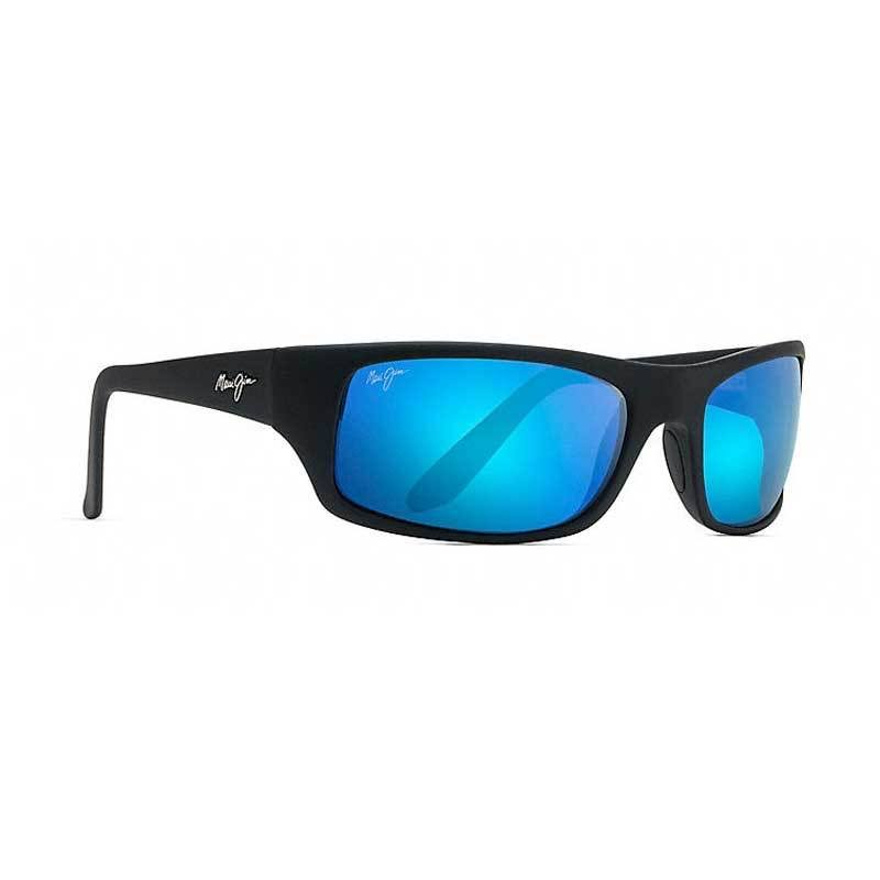 Maui Jim Mens Peahi Polarized Mirrored Wrap Sunglasses - 65mm