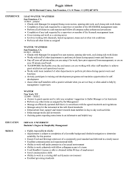 Unforgettable Waiter Resume Templates Example Doc Career Objective