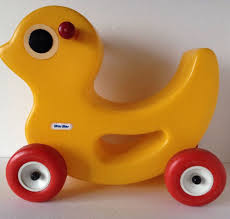 Vintage Little Tikes Ride On Yellow Duck/Chick 16