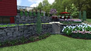Landscape & Retaining Walls For Custom Vicksburg Home – R&A ... Retaing Wall Designs Minneapolis Hardscaping Backyard Landscaping Gardening With Retainer Walls Whats New At Blue Tree Retaing Wall Ideas Photo 4 Design Your Home Pittsburgh Contractor Complete Overhaul In East Olympia Ajb Download Ideas Garden Med Art Home Posters How To Build A Cinder Block With Rebar Express And Modular Rhapes Sloping Newest