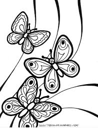 Printable Butterfly Coloring Pages For Kids Archives Throughout Free Butterflies