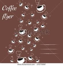Illustration Of Hot Coffee Cup Background With Space For Text Color Mocha