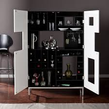Locking Liquor Cabinet Amazon by Amazon Com Southern Enterprises Shadowbox Wine Bar Cabinet Black