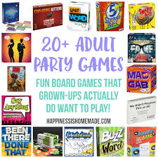 Fun Party Games For Adults Board Happiness Is Homemade Parties