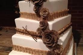 13 Mix Size Burlap Flowers Cake Topper Rustic Wedding