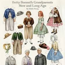Free Printable Vintage Paper Doll Betty Bonnets Grandparents