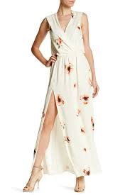 haute hippie silk floral surplice maxi dress nordstrom rack