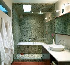 bathroom tile ready shower pan with recessed medicine cabinet
