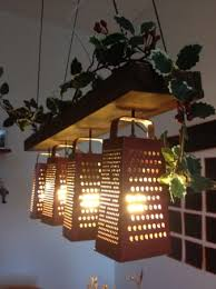 cheese graters can make kitchen themed hanging lights 67