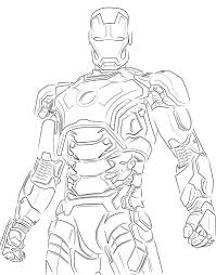 Coloring Page Iron Man Superheroes 113