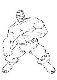 Super Hero Hulk Coloring Pages