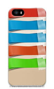Buy Best iPhone 5 5S Case Colorful Rubber Bands Shelves159 3D