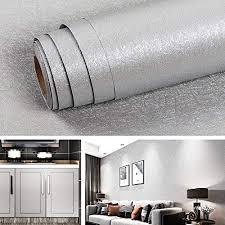 livelynine grau tapete schlafzimmer modern selbstklebende tapete badezimmer wasserfest selbstklebend wandtapete wohnzimmer silber klebe tapete grau