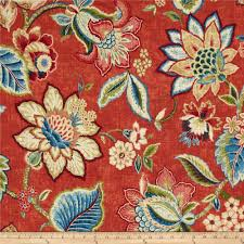 Jacobean Floral Curtain Fabric by Waverly Brighton Blossom Gem From Fabricdotcom Screen Printed On