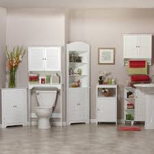 Tall Bathroom Cabinets Freestanding by Bathroom Ideas White Stained Wooden Storage Cabinet For Bathroom