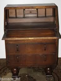 bureau free antique deco jentique carved oak bureau desk 1930s free