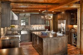 Rustic Log Cabin Kitchen Ideas by Cabin Kitchen Design Ideas Kitchen Rustic With Rustic Lighting Log