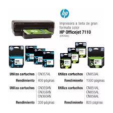 Impresora A3 Hp 7110 Tinta Color A3 Wifi Usb Cr768a
