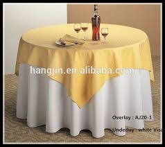 Square Jacquard Overlay Tablecloth And Cheaper Polyester Visa Underlay For Restaurant