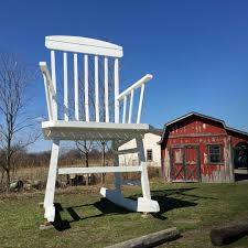 Giant Rocking Chair In Austinburg, OH Shepard Fairey And Keith Haring Artworks Applied To Mid A Visit Madison Bumgarner Country A Proud Fathers Young Danish Designer Reimagines The Rocking Chair At Carl Kartell Smatrik Rocking Chair In White With Chrome Legs By Tokujin Yoshioka Nfl Pladelphia Eagles Beach Deep New York Giants Two Position Navy Blue Horse Design Dezeen Kids Kids Giant Argos Farm Im 6ft Give You New York Yankees Sphere