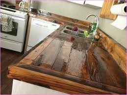 A Cabin Or Rustic Designed House Is Not Complete Without Kitchen Countertop