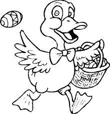 Duck With His Easter Basket
