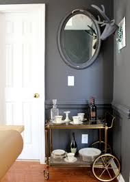 A Budget Friendly Dining Room Makeover Dark Grey Sherwin Williams Peppercorn With Vintage Bar