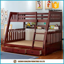2017 new solid wooden bunk bed design simple double decker bed for