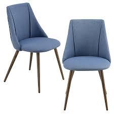 2x polsterstuhl design stühle esszimmerstuhl in verschiedenen farben bürostuhl mit metallbeinen blau en casa