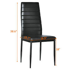 Details About Set Of 4 PU Leather Dining Side Chair Modern Elegant Design  Home Furniture Black Appealing Modern White Ding Chairs Home Furnishings Kit Modern Upholstered Ding Chairs With Arms Crazymbaclub Mid Century Upholstered Chair Avalonitnet Audrey Dark Grey Details About New Set Of 2 Elegant Design Fabric Accent L848 China Colorful Coffee Table Gold Wedding Garden Outstanding Small Room With Rectangle Modrest Legend Black Danish Teak Rope Cord Post Concorde By Torstein Flaty Norway 1980s Of 4 For Walmartcom