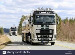 JOKIOINEN, FINLAND - MAY 7, 2017: Two Volvo FH Semi Tank Trucks Of ... 2017 Volvo Vnl 670 Review New Cars Trucks Stretch Brake Increases Braking Safety For Tractor Launches Heavy Haulage Version Of Fh16 Indian Unique Semi Sale 7th And Pattison Volvos New Semi Trucks Now Have More Autonomous Features And Heavy Commercial Vehicle Fault Codes 2400hp Truck S60 Polestar Race Car Go Tohead Custom Pictures High Resolution Truck Photo Galleries 2005 Vt880 G Wallpaper 2048x1536 130934 2015 Vnl64t630 Sleeper For 305320 Miles Parting Out Vnl Vn Vnm 99 00 01 02 03 04 05 06