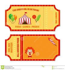 Free Printable Carnival Ticket Templates Invitation Marvellous