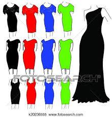 Clipart Of Womens Formal Dresses K20236555