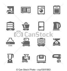 Clip Art Vector Of Kitchen Appliances
