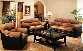 Brown Leather Couch Decor by Bedroom Couch Bed Thing Porcelain Tile Throws Table Lamps The
