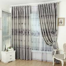 affordable rose printed grey living room blackout curtains