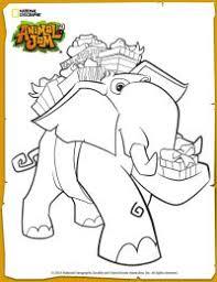Animal Jam Elephant Coloring Page
