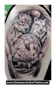 Dreamcatcher Tattoos With Wolf 21