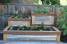 Beautiful Raised Garden Planter Boxes Corrugated Metal Planter Box