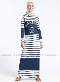 blue stripe crew neck unlined dress benin