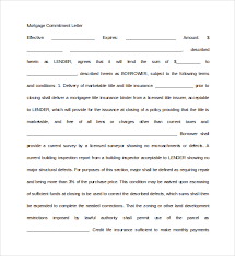 Sample Mortgage mitment Letter 6 Free Documents in PDF Word